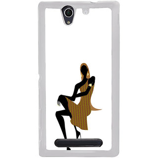 ifasho Girl with high hill Back Case Cover for Sony Xperia C4
