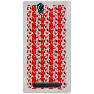 ifasho Animated  Feather Back Case Cover for Sony Xperia C4