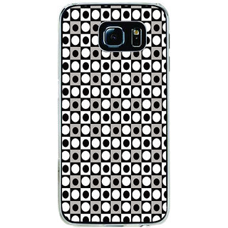ifasho Modern Theme of black and white dots inside Square Back Case Cover for Samsung Galaxy S6
