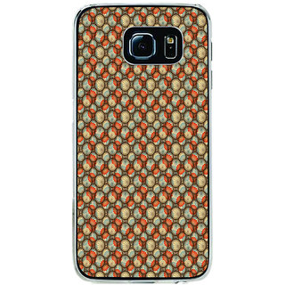 ifasho Animated Pattern With flower inside Circle  Back Case Cover for Samsung Galaxy S6