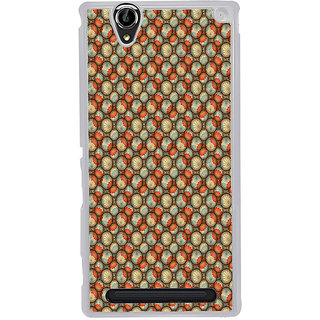 ifasho Animated Pattern With flower inside Circle  Back Case Cover for Sony Xperia T2