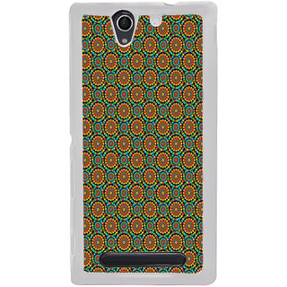 ifasho Animated Pattern design colorful flower in white background Back Case Cover for Sony Xperia C4