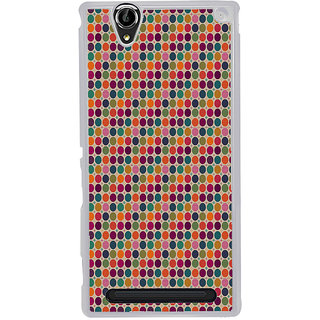 ifasho Animated Pattern  littel and Big colourful Circle Back Case Cover for Sony Xperia T2