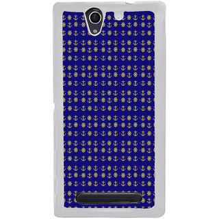 ifasho Modern Art Design Pattern with Lot Of small anchor and disc Back Case Cover for Sony Xperia C4