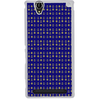 ifasho Modern Art Design Pattern with Lot Of small anchor and disc Back Case Cover for Sony Xperia T2