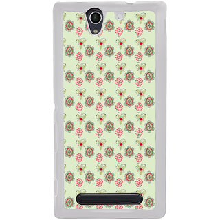 ifasho Animated Pattern design many small flowers  Back Case Cover for Sony Xperia C4