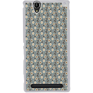 ifasho Animated Pattern colrful design flower with leaves Back Case Cover for Sony Xperia T2