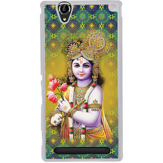 ifasho Lord Krishna in bal avtar Back Case Cover for Sony Xperia T2