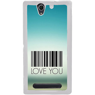 ifasho Love Quotes I love you Back Case Cover for Sony Xperia C4