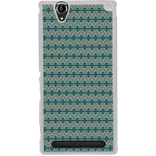 ifasho Animated Pattern of Chevron Arrows royal style Back Case Cover for Sony Xperia T2