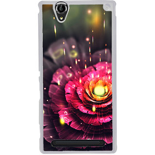 ifasho water Drop on flower Back Case Cover for Sony Xperia T2