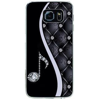 ifasho Modern Art Design Pattern Music symbol Back Case Cover for Samsung Galaxy S6 Edge