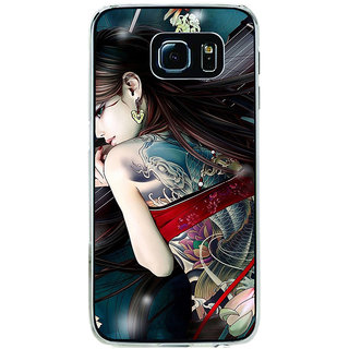 ifasho tatoo girl Back Case Cover for Samsung Galaxy S6