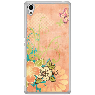 ifasho Animated Pattern colrful traditional design cloth pattern Back Case Cover for Sony Xperia M4 Aqua