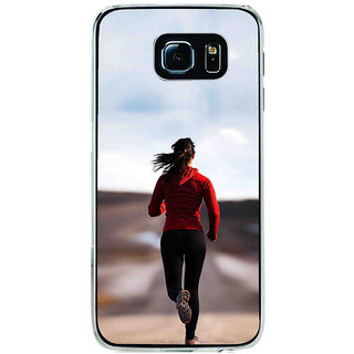 ifasho Girl Jugging Back Case Cover for Samsung Galaxy S6