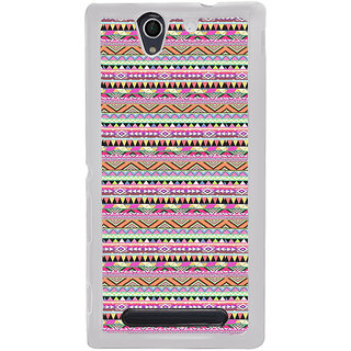 ifasho Triangular Pattern Back Case Cover for Sony Xperia C4