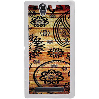 ifasho Animated Royal Pattern with Wooden back ground Back Case Cover for Sony Xperia C4