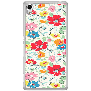 ifasho Animated Pattern colrful flower with leaves Back Case Cover for Sony Xperia Z3 Plus