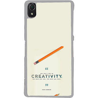 ifasho quotes on creativity Back Case Cover for Sony Xperia Z3
