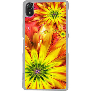ifasho Flower Design multi color Back Case Cover for Sony Xperia Z3