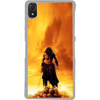 ifasho Modern Art Design animated man with skeleton Back Case Cover for Sony Xperia Z3