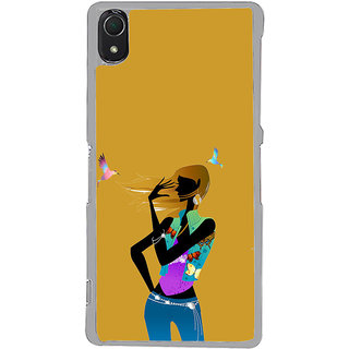 ifasho Girl with Bird Back Case Cover for Sony Xperia Z3