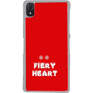 ifasho Fiery Heart modern quotes Back Case Cover for Sony Xperia Z3