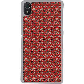 ifasho Modern Art Design animated cloth Pattern of flower Back Case Cover for Sony Xperia Z3
