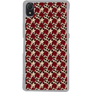ifasho Animated Pattern rose flower with leaves Back Case Cover for Sony Xperia Z3