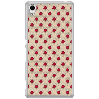 ifasho Animated Pattern small red rose flower Back Case Cover for Sony Xperia M4 Aqua