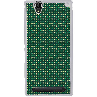 ifasho Modern Art Design Pattern with Lot Of small heart Back Case Cover for Sony Xperia T2
