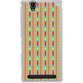 ifasho Animated Pattern colrful traditional design Back Case Cover for Sony Xperia T2