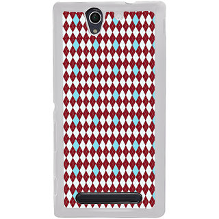 ifasho Animated Pattern design colorful in royal style Back Case Cover for Sony Xperia C4