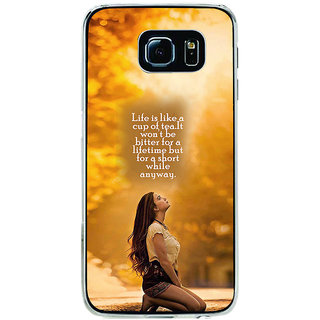ifasho young Girl with quote Back Case Cover for Samsung Galaxy S6