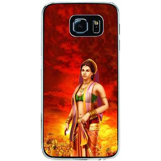 ifasho Draupadi Mahabharat Back Case Cover for Samsung Galaxy S6 Edge
