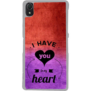 ifasho I have you in my heart Back Case Cover for Sony Xperia Z3