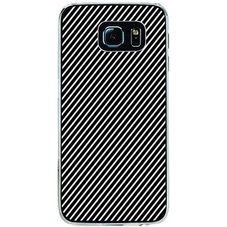 ifasho Design lines pattern Back Case Cover for Samsung Galaxy S6