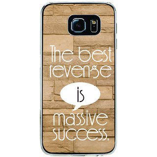 ifasho quotes on success Back Case Cover for Samsung Galaxy S6