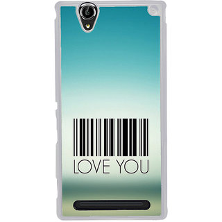 ifasho Love Quotes I love you Back Case Cover for Sony Xperia T2
