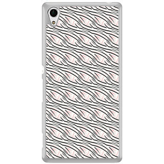 ifasho Design lines pattern Back Case Cover for Sony Xperia Z3 Plus