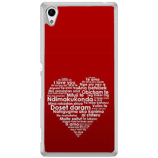 ifasho Love Quotes I love you Back Case Cover for Sony Xperia Z3 Plus