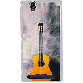 ifasho Modern Art Design Pattern Music Instrument Back Case Cover for Sony Xperia T2