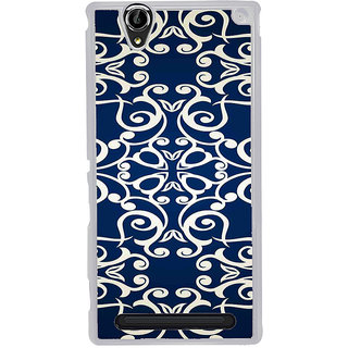 ifasho Animated Pattern design colorful flower in royal style Back Case Cover for Sony Xperia T2