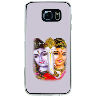 ifasho Siva Parvati and ganesh Back Case Cover for Samsung Galaxy S6