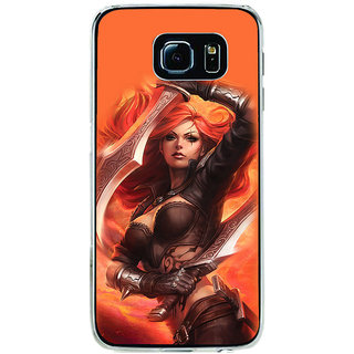 ifasho Girl with blade animated Back Case Cover for Samsung Galaxy S6