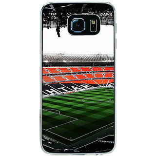 ifasho Football stadium field Back Case Cover for Samsung Galaxy S6