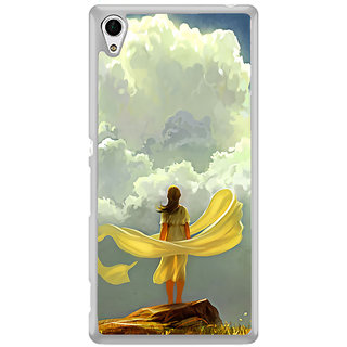 ifasho Girl waiting art work painting Back Case Cover for Sony Xperia M4 Aqua