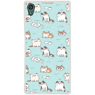 ifasho Animated Design  Many Cat Back Case Cover for Sony Xperia Z5