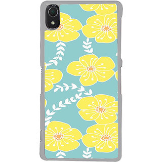 ifasho Animated Pattern flower with leaves Back Case Cover for Sony Xperia Z3