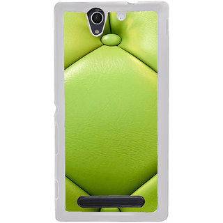 ifasho leather pattern sofa style Back Case Cover for Sony Xperia C4